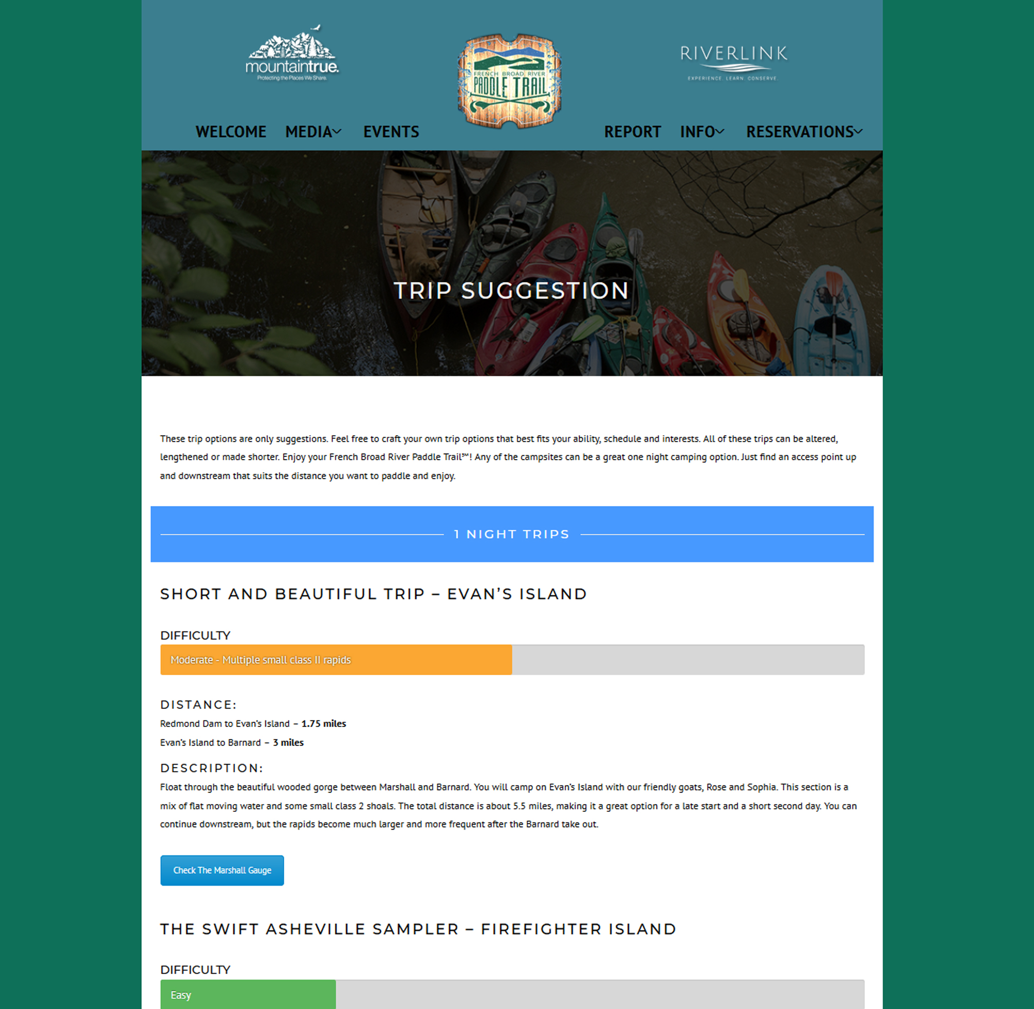 French Broad Paddle Trail Website - Eyecon Imaging